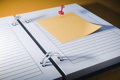 carnet 3d avec la note collante vide Illustration de Vecteur