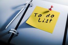 carnet 3d avec pour faire la note collante de liste Photo stock