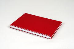 Carnet de couleur rouge Images stock