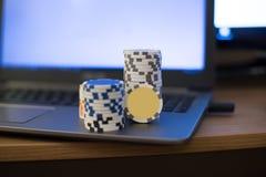 Carnet de jetons de poker Photos stock