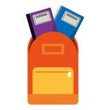 carnet de livre de sac d'école Image libre de droits