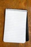 Carnet de notes à spirale Image libre de droits