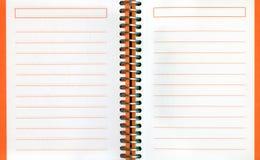 Carnet de notes à spirale Photographie stock