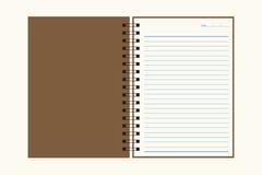 Carnet de notes à spirale Images libres de droits