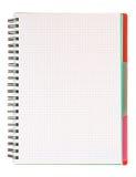 Carnet de notes à spirale blanc Images libres de droits