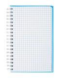 Carnet de notes à spirale de papier de graphique   Photo libre de droits