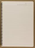 carnet en spirale vide de bloc-notes Photographie stock libre de droits
