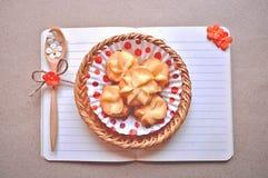 Carnet et biscuit Photo libre de droits