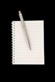 Carnet et crayon lecteur Photo libre de droits
