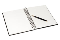 Carnet et stylo photo stock