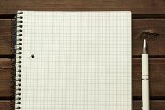 Carnet et stylo Photo stock