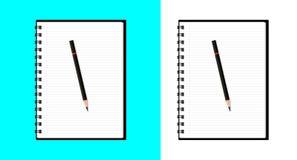 Carnet et stylo Photos stock