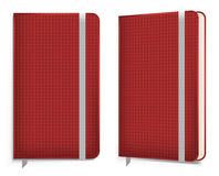 Carnet réaliste de velours de coton avec la bande élastique cahier, illustration de vecteur Image stock