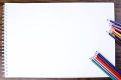 Carnet vide Photographie stock libre de droits