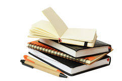 Carnets et stylos Image libre de droits