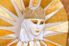 Carneval面具在威尼斯-威尼斯式服装 图库摄影