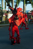 Carneval on bocas del toro with red revils Royalty Free Stock Photos