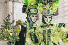 Carneval mask in Venice - Venetian Costume Royalty Free Stock Image