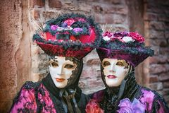Carneval mask in Venice - Venetian Costume Royalty Free Stock Photos