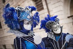 Carneval mask in Venice - Venetian Costume Royalty Free Stock Images