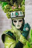 Carneval mask in Venice - Venetian Costume Royalty Free Stock Image