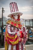 Carneval mask in Venice - Venetian Costume Stock Photo