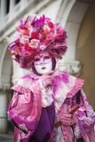 Carneval mask in Venice - Venetian Costume Royalty Free Stock Photo