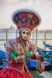 Carneval mask in Venice - Venetian Costume Stock Image