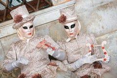 Carneval mask in Venice - Venetian Costume Stock Photography