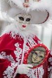 Carneval maska w Wenecja - Wenecki kostium Zdjęcie Royalty Free