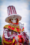 Carneval-Maske in Venedig - venetianisches Kostüm Stockfotografie