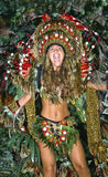 Carneval in Rio de Janeiro. Samba dancer with the Carneval in Rio de Janeiro, Brazil, South America 11. March 2000 Royalty Free Stock Images