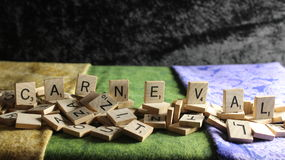 CARNEVAL in Scrabble Letter Tiles Royalty Free Stock Images