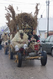 Carnevalauto met masker Royalty-vrije Stock Fotografie