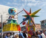 carnevale 35° um Scampia - uma Nápoles Itália Foto de Stock