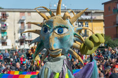 carnevale 35° um Scampia - uma Nápoles Itália Fotografia de Stock