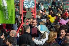 carnevale 35° um Scampia - uma Nápoles Itália Fotos de Stock Royalty Free