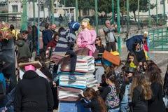 carnevale 35° um Scampia - uma Nápoles Itália Fotos de Stock