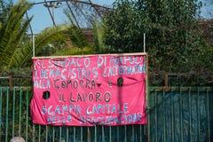 carnevale 35° un Scampia - una Nápoles Italia Fotos de archivo