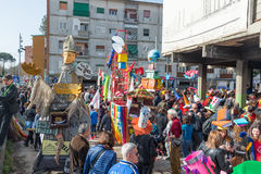 carnevale 35° un Scampia - una Nápoles Italia Imagen de archivo libre de regalías
