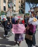 carnevale 35° un Scampia - una Nápoles Italia Imágenes de archivo libres de regalías