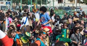 carnevale 35° un Scampia - una Nápoles Italia Foto de archivo libre de regalías