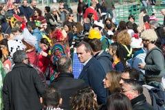 carnevale 35° un Scampia - una Nápoles Italia Fotos de archivo libres de regalías