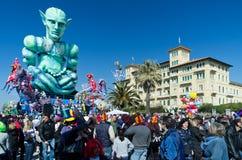 carnevale 2011 di viareggio royaltyfri bild