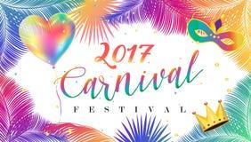 Carnevale 2017 Illustrazione di Stock