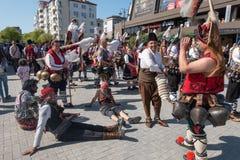 Carnevale annuale della primavera, Varna, Bulgaria Fotografia Stock