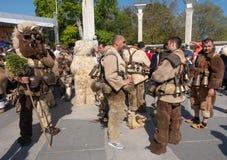 Carnevale annuale della primavera a Varna, Bulgaria Fotografia Stock Libera da Diritti