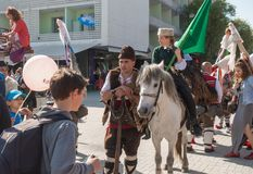 Carnevale annuale della primavera a Varna, Bulgaria Immagine Stock