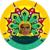 Carnevale brasiliano Immagini Stock