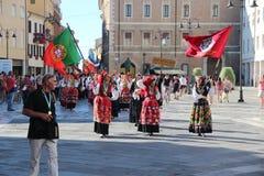 Carnevale con le bandiere del ` s dei paesi Immagine Stock Libera da Diritti